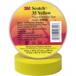 3M - 35-YELLOW-1/2X20 - Electrical tape YELLOW, 1/2 x 20'/ 1 roll