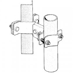Sinclair - CLAMP015B - Pipe to Angle Tower Clamp