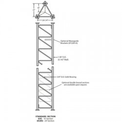 Rohn Products - 65G - 65G - 65G 10ft standard tower section