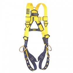 3M - 1102008 - 3M DBI-SALA Universal Delta No-Tangle Full Body/Vest Style Harness With Back And Side D-Ring And Tongue Leg Strap Buckle, ( Each )