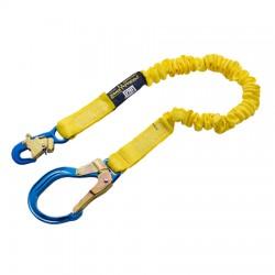 """3M - 1244311 - 3M DBI-SALA 6' Shockwave2 1 15/16"""" Polyester Tubular Web Single-Leg Shock-Absorbing Lanyard With Snap Hook And Aluminum Rebar Hook, ( Each )"""