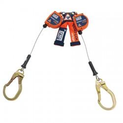 Capital Safety - 3500227 - DBI/SALA 8' Nano-Lok Edge 3/16 Galvanized Steel Cable Twin Leg Self-Retracting Lifeline With Steel Rebar Lock Hooks, ( Each )